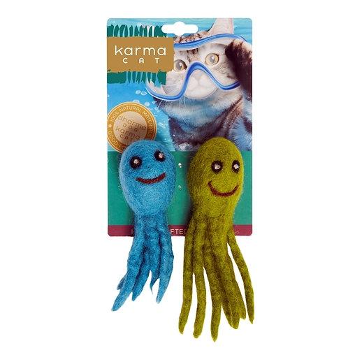 Octopus Wool Cat Toy