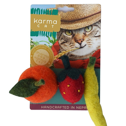 Fruit Wool Cat Toy