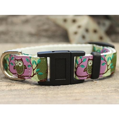 H'Owl Purple Cat Collar