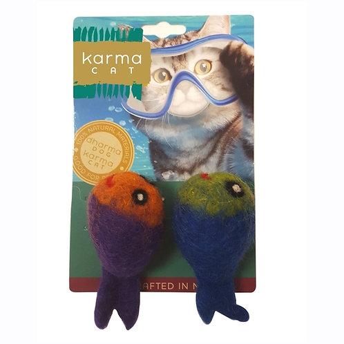 Fish Wool Cat Toy