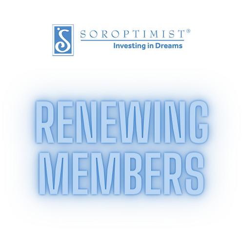 Membership Dues - Renewing
