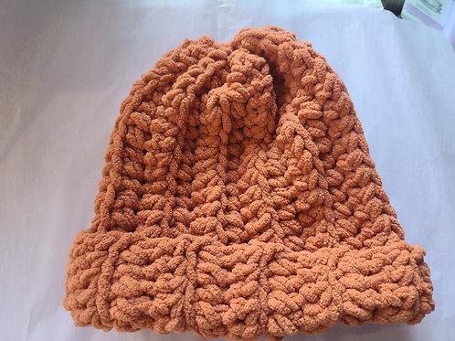 Orange cozy hat
