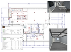 Floor Plan & 3D Renderings