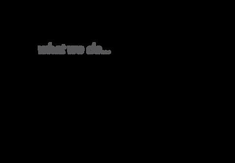 what we do tagline