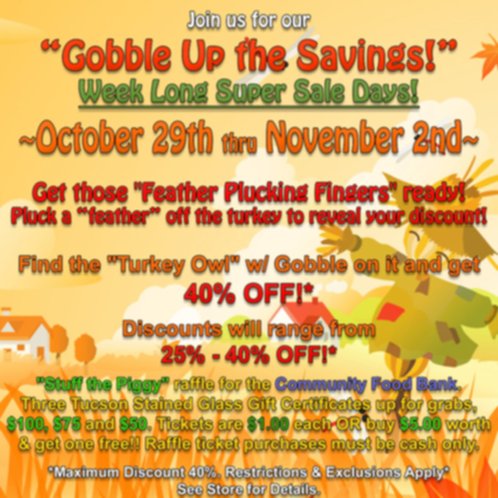 Goggle Up the Savings October Newsletter