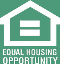 equal housing opportunity White on Green