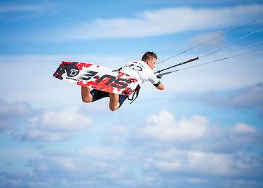 Kitesurfing kite in Doha Qatar