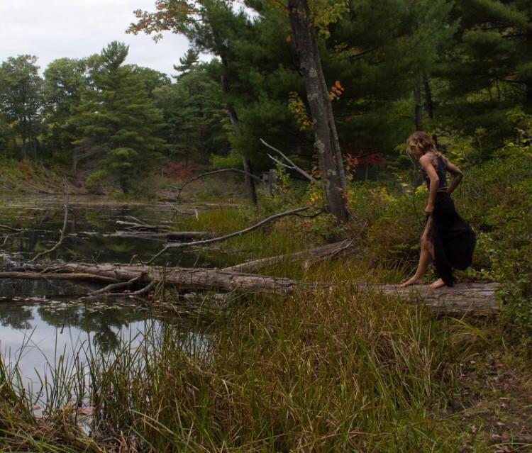 Yoga teacher Gina Mandella practicing balance