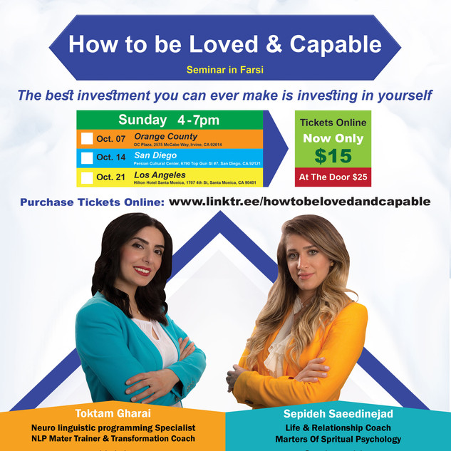 How To be Loved & Capable Seminar Advertisement