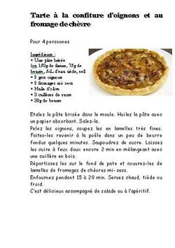 tarte oignons chevre