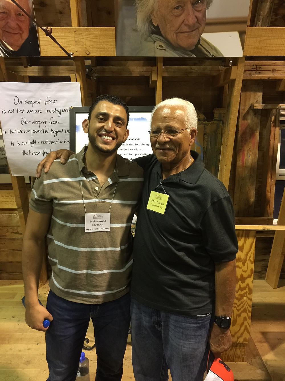 Ibrahim Awad and Don Clarkson