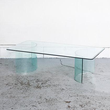 スクエアガラスローテーブル