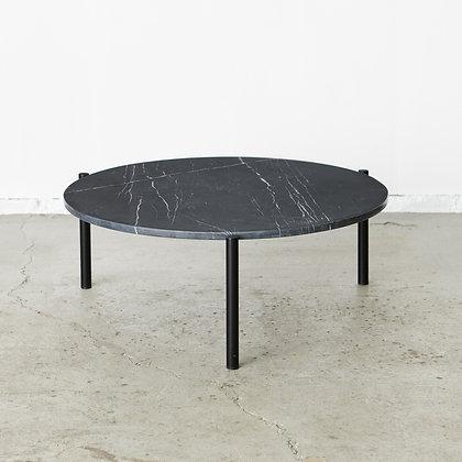 大理石ローテーブル 黒