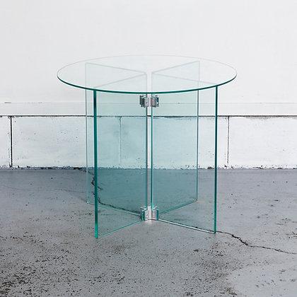 ラウンドガラスサイドテーブル