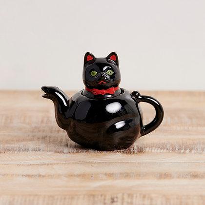 ティーポット 黒ネコ