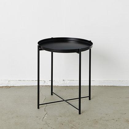 トレイサイドテーブル 黒