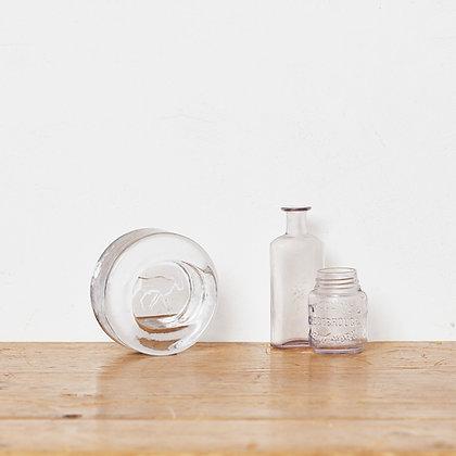 ガラスアッシュトレイ/ヴィンテージボトル