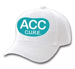 ACC CURE Embroidered White Hat