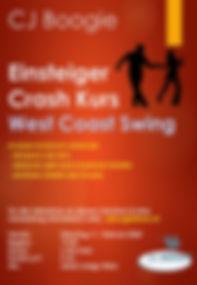 Plakat Einsteiger crash WCS  Feb 2020 ho