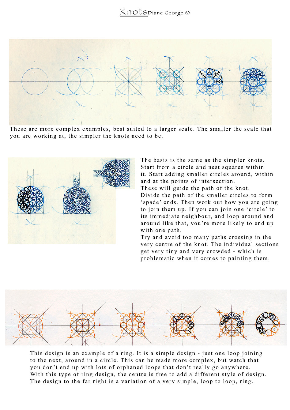Complex knotwork shapes