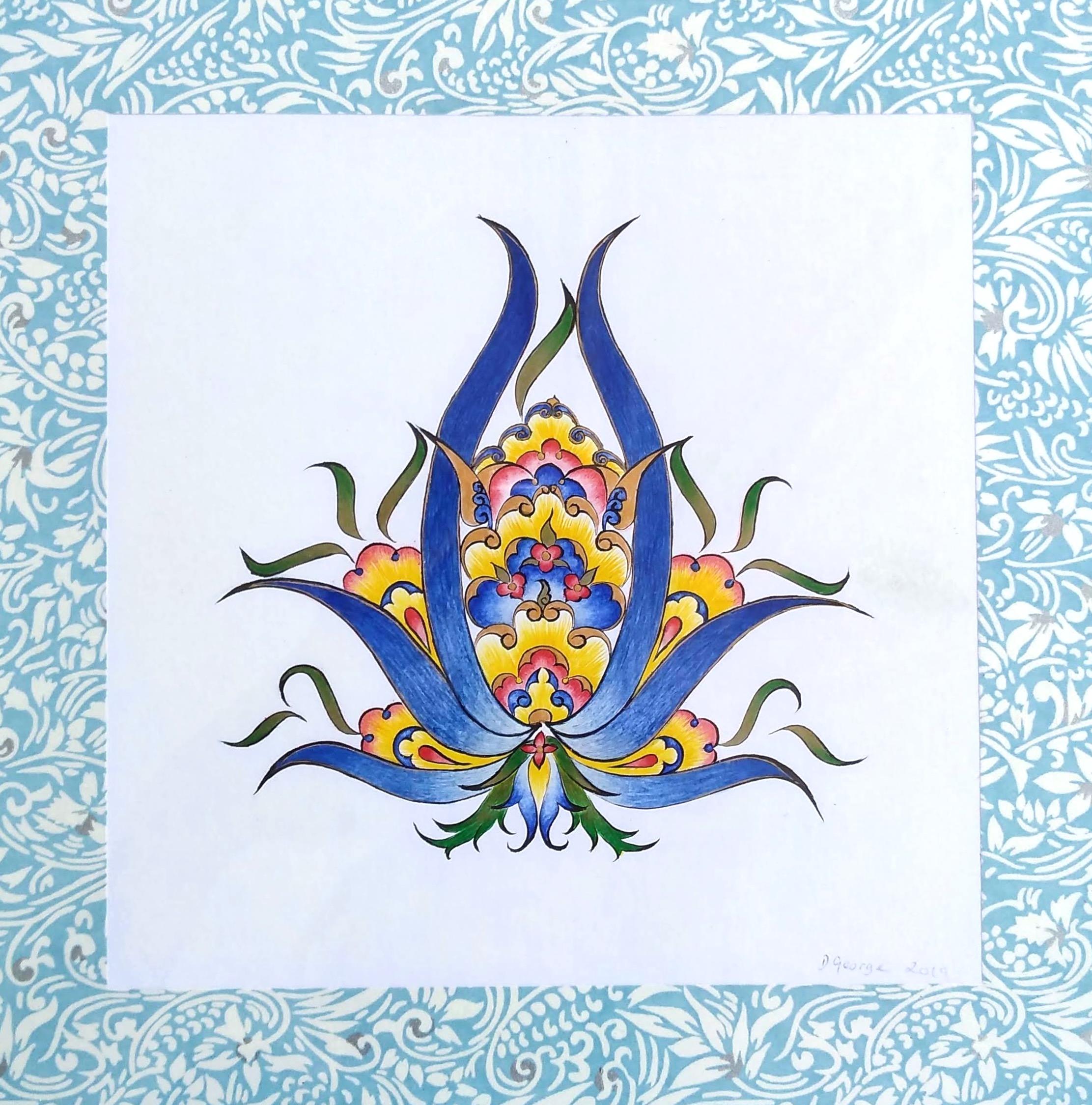 Lapis Lazuli Flower II