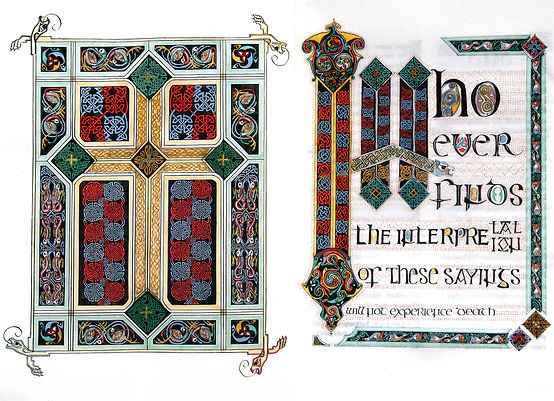 Opening cross carpet page and incipit page