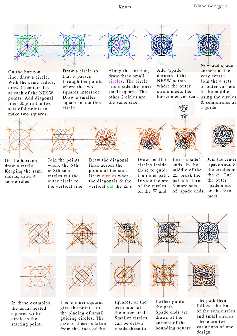 Further examples of knotwork construction