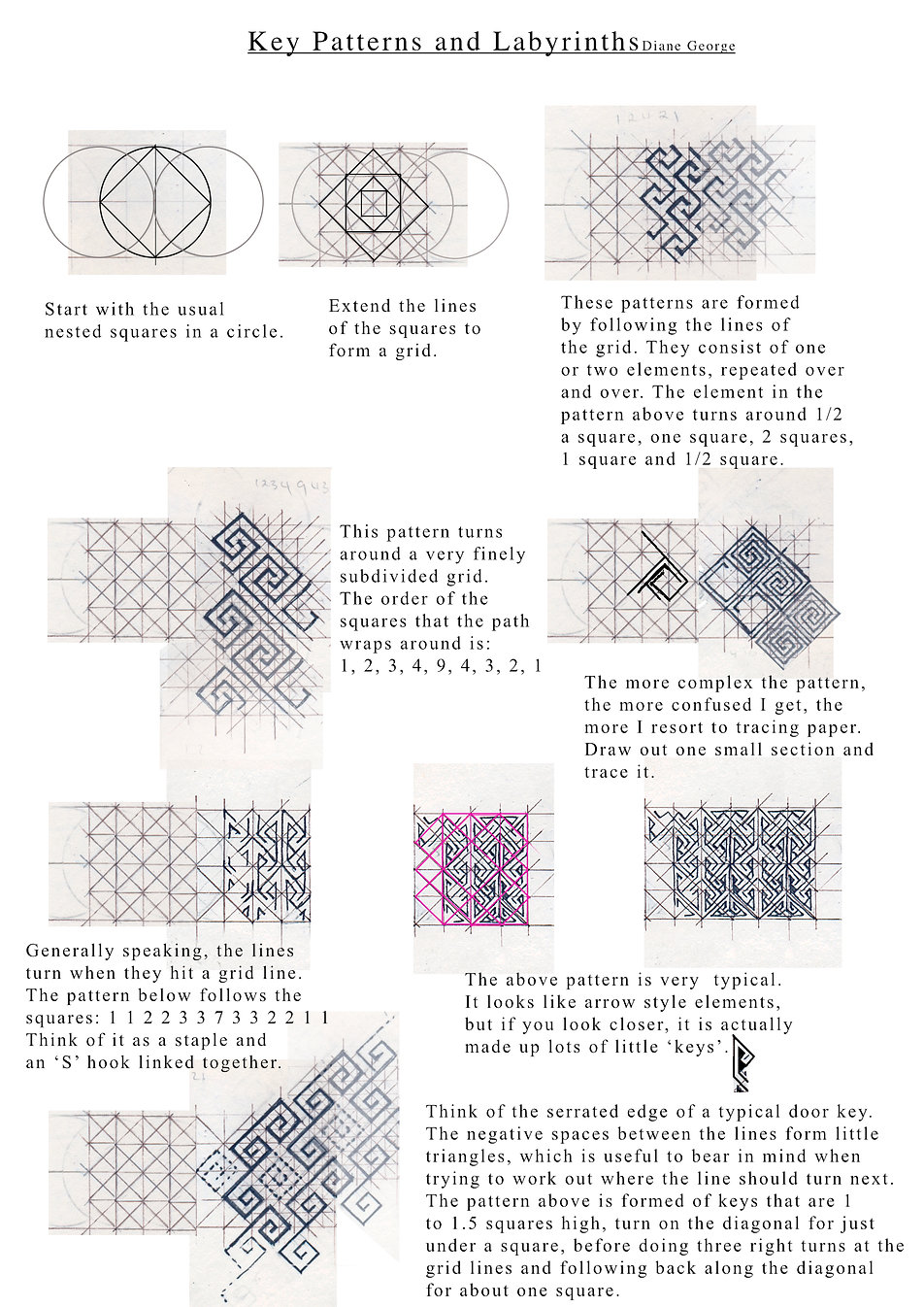 Examples of how to construct labyrinths