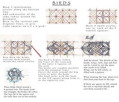 How to draw interweaving Celtic Birds
