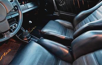 Porsche black leather interior restored to original condition