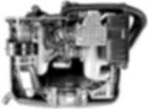 Looking at a Porsche 3.2 liter engine from overhead. This image is seen the Services Intro page for smartphone.