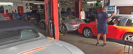inside miami porsche shop of gp autowerks
