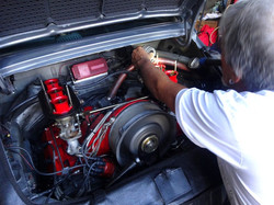 Porsche RSR clone's engine is being tuned by George Perdomo so each cylinder breathes equally