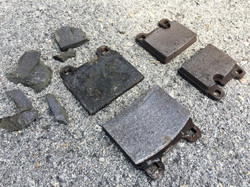 Porsche brake pads falling apart