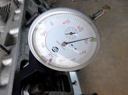 Porsche engine's cam timing is being set