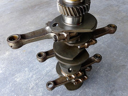 Porsche crankshaft is removed from engine to take several measurements