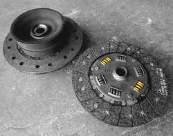 Porsche doughnut clutch disk compared to spring clutch disk