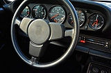 miami porsche steering wheel and gauge cluster in excellent condition