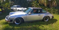customer of miami porsche specialist gp autowerks in his 1980 porsche targa