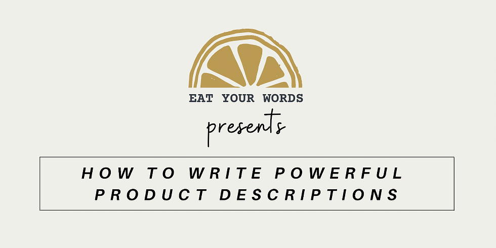 How To Write Powerful Product Descriptions