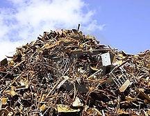 pile scrap metal