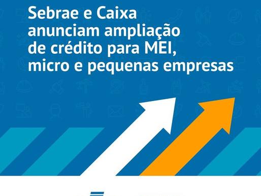 Sebrae libera linhas de crédito para MEI e pequenas empresas