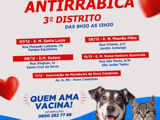 Atenção para os novos locais de vacinação anti-rábica em Duque de Caxias