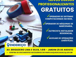 Cursos profissionalizantes grátis em Caxias