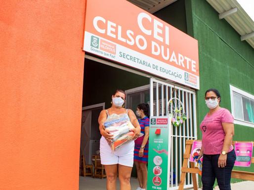 Cestas básicas são entregues nas escolas municipais de Nilópolis