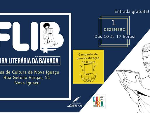 Feira Literária Itinerante da Baixada acontece em dezembro, em Nova Iguaçu