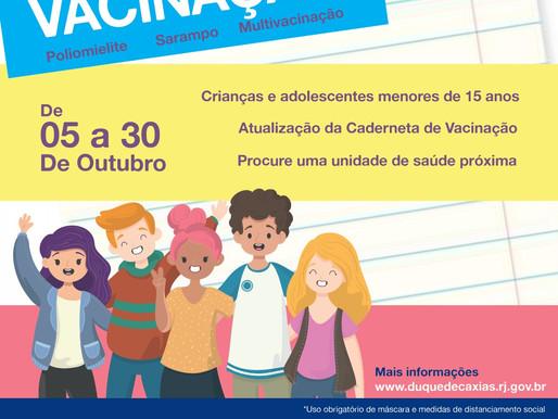Campanha de vacinação contra a Pólio e Sarampo começam  em Caxias