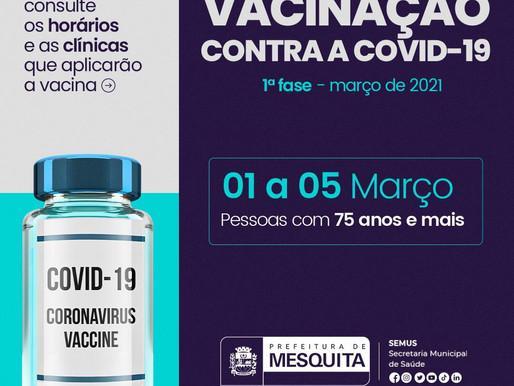 Vacina para covid-19: Idosos acima de 75 anos entram no calendário