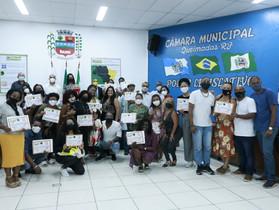 Moção de aplausos no dia da Consciência Negra em Queimados