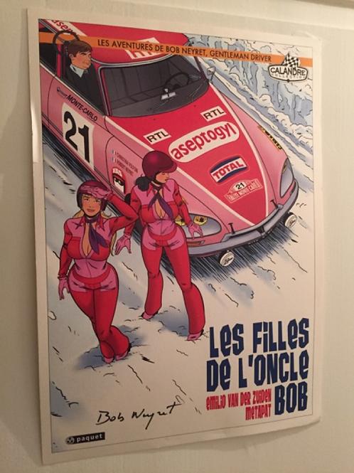 """Affiche/Poster Cover Citroen DS- """"Les Filles de l'Oncle Bob"""" A3"""